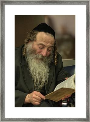 Jew At Prayer Framed Print
