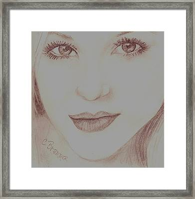Framed Print featuring the drawing Jewel by Christy Saunders Church
