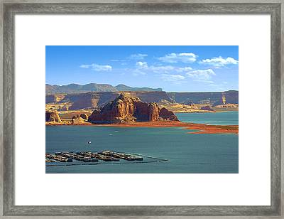 Jewel In The Desert - Lake Powell Framed Print