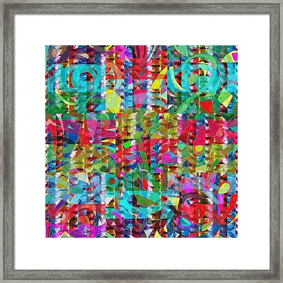 Jewel Stones Sprinkle Abstract  Navinjoshi  Rights Managed Images Graphic Design Is A Strategic Art  Framed Print by Navin Joshi