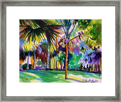 Jewel Tones From Hawaii Framed Print by Therese Fowler-Bailey