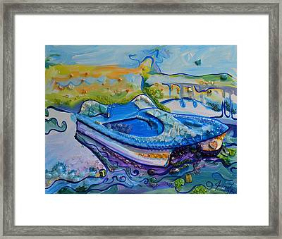 Jeweled Cruise Framed Print by Janet Oh