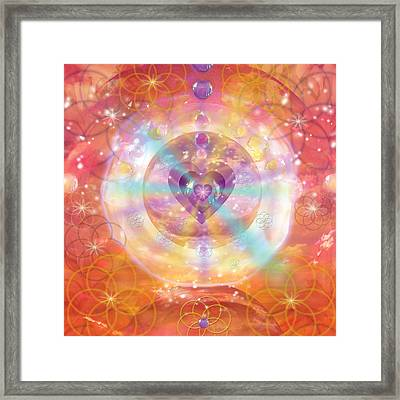 Jeweled Heart Of Happiness Framed Print by Alixandra Mullins
