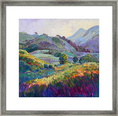 Jeweled Hills Framed Print