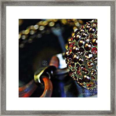 Jeweled Framed Print by Sarah Loft