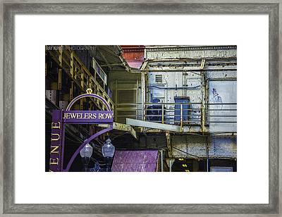 Jewelers Row Framed Print