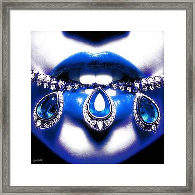 Jewelips Soft Blue Framed Print
