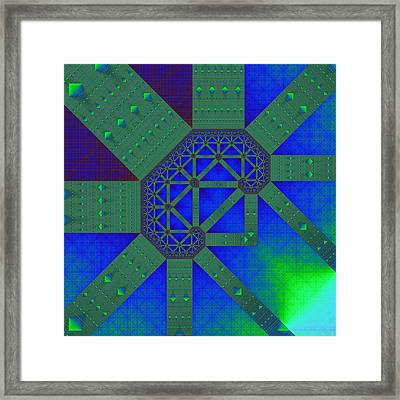 Jewelled Tapes Framed Print by Mark Eggleston