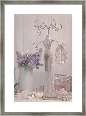 Jewellery And Pearls Framed Print by Amanda Elwell