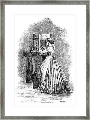 Jewellery Polishing Framed Print by Science Photo Library