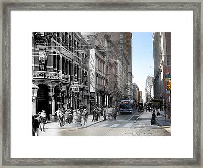 Jewelry District Framed Print