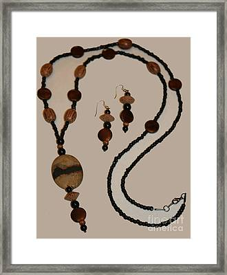 Jewelry Mother Earth Set Framed Print by Lesa Fine
