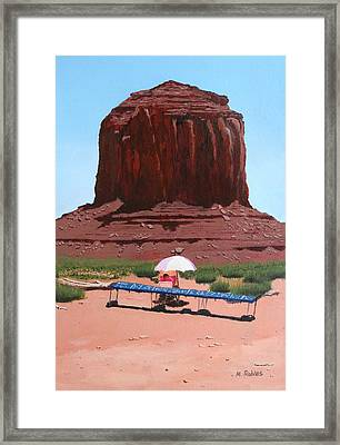 Jewelry Seller Framed Print by Mike Robles