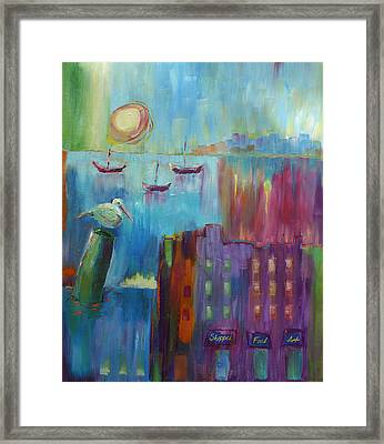 Jewels By The Sea Framed Print