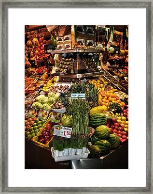 Jewels From The Market  Framed Print by Mary Machare