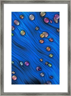 Jewels In Blue Flow Framed Print