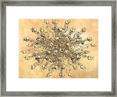 Jewels In The Sand Framed Print by Georgiana Romanovna