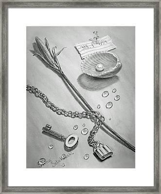 Jewels Of Love Framed Print by Irina Sztukowski
