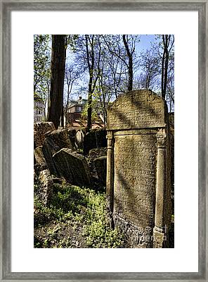 Jewish Cemetery Framed Print
