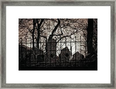 Jewish Cemetery Prague Framed Print