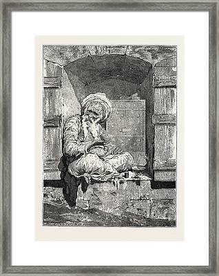 Jewish Money-changer Framed Print by Litz Collection