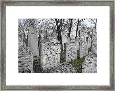 Jewish Past In Moravia Framed Print by Baruch Y Lebovits