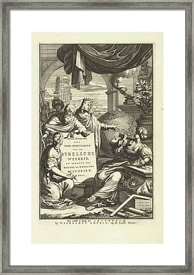 Jewish Symbols And Figures From The Bible Framed Print