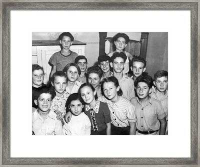 Jewish Wwii Orphans In Germany Framed Print by Underwood Archives