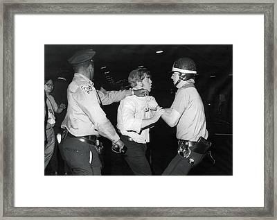 Jews Demonstrate In Ny Framed Print