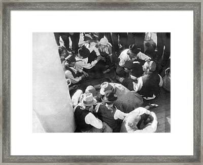 Jews Emigrate To South America Framed Print by Underwood Archives
