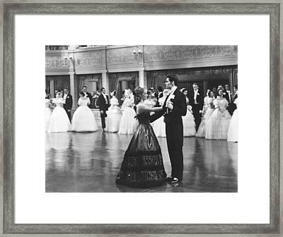 Jezebel, From Left, Front, Bette Davis Framed Print by Everett
