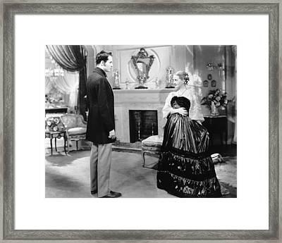 Jezebel, From Left, Henry Fonda, Bette Framed Print by Everett