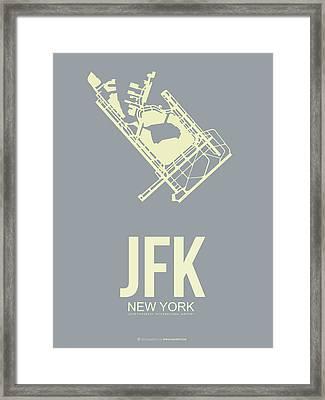 Jfk Airport Poster 1 Framed Print by Naxart Studio