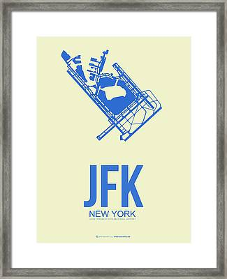 Jfk Airport Poster 3 Framed Print by Naxart Studio