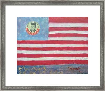 Jfk Americana Framed Print by Jay Kyle Petersen