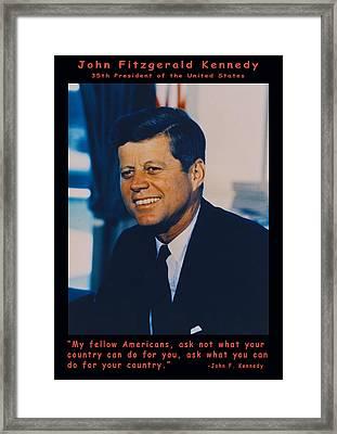 Jfk John F Kennedy Framed Print by Official White House Photo
