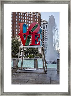 Jfk Plaza Love Park Framed Print by Susan Candelario