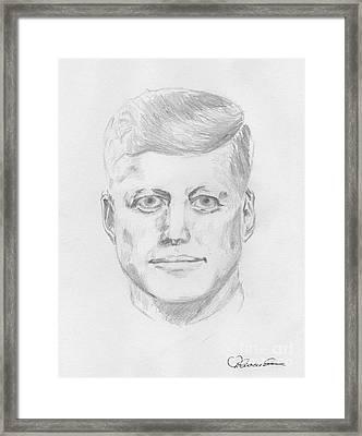 JFK Framed Print by Torbjorn Swenelius