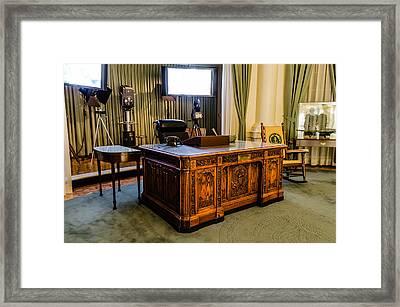 Jfk's Oval Office Framed Print