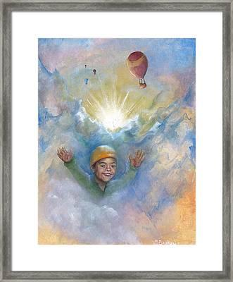Jhonan And The Hot Air Balloons Framed Print