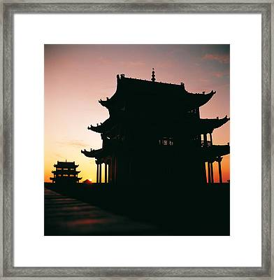Framed Print featuring the photograph Jia Yu Guan by Yue Wang