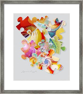 Jigsaw Puzzle Framed Print by Gayle Odsather