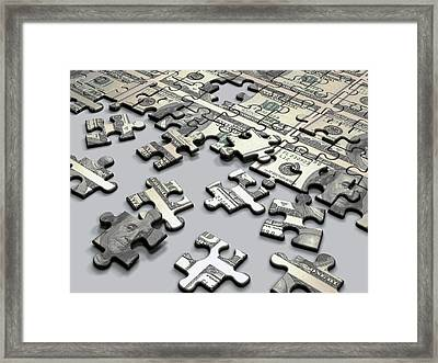 Jigsaw Puzzle Framed Print by Ktsdesign/science Photo Library