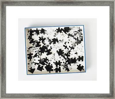Jigsaw Puzzle Pieces Framed Print by Dorling Kindersley/uig