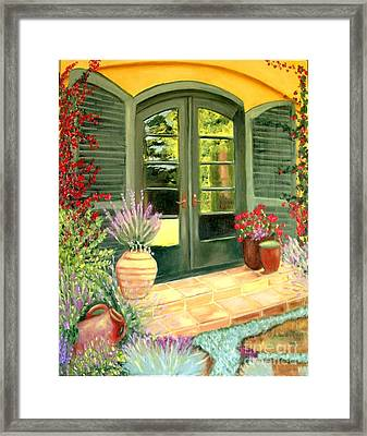 Jill's Patio Framed Print