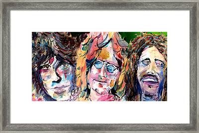 Jim And John And Bob Framed Print by John Dunn