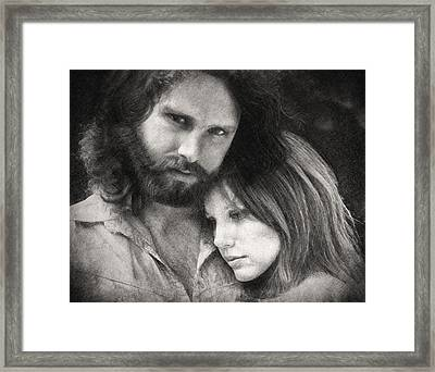 Jim And Pam Framed Print by Taylan Apukovska