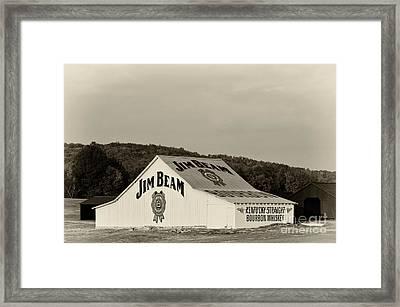 Jim Beam - D008291-bw Framed Print