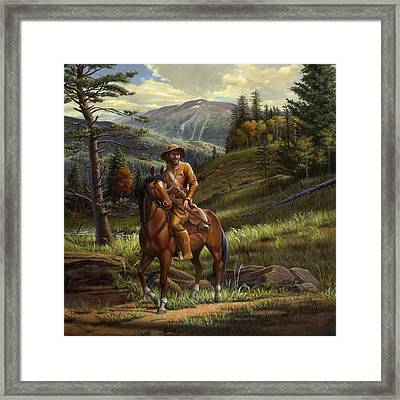 Jim Bridger - Mountain Man - Square Format Framed Print by Walt Curlee