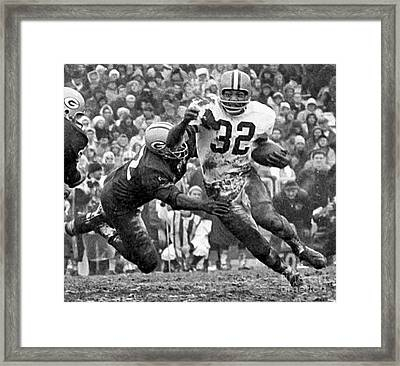 Jim Brown #32 Framed Print